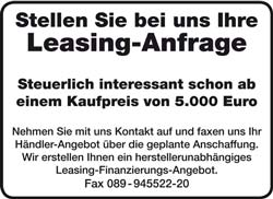 Leasing-Anfrage